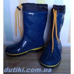 Резиновые сапоги с утеплителем  Арт: 478 blue