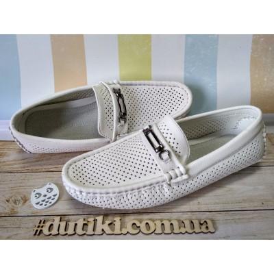 Туфли белые с перфорацией 505-5А