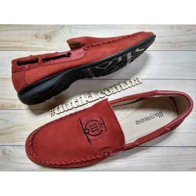 Туфли из натуральной замши 5505 red