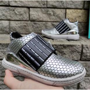 Ботинки для девочек Арт: 5517 silver - последняя пара 28рр!