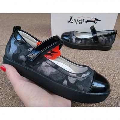 Туфли для девочек черные Lapsi, 5518-1627