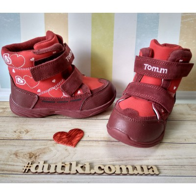 Зимние термо ботинки, TOM.M 5894 red