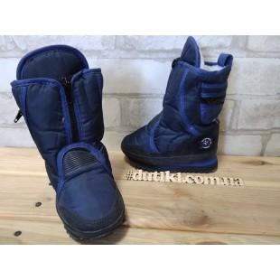 """Зимние термо ботинки для мальчиков """"Moon boots"""" АРТ: 6260 blue"""