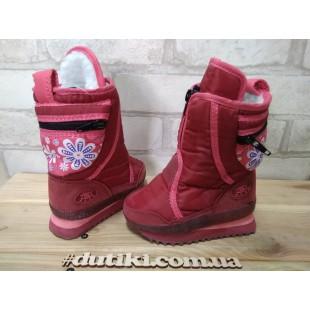 """Зимние термо ботинки для девочек """"Moon boots"""" АРТ: 6260 red"""