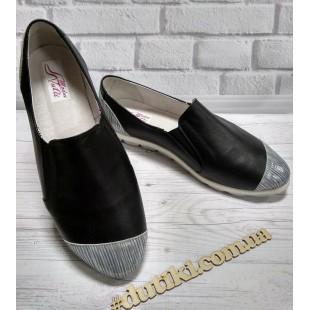 Туфли-мокасины женские кожаные 39 размер - 25,5см