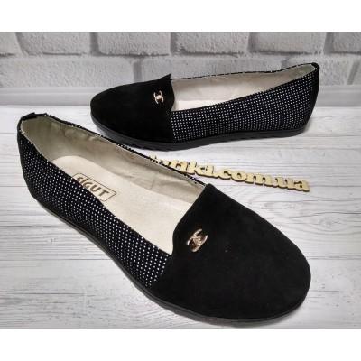 Женские замшевые туфли, балетки