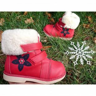 Зимние ботинки для девочек на орто-подошве Арт:7425 - последняя пара!