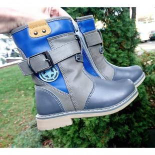Зимние высокие ботинки для мальчиков на орто-подошве Арт:7434 - последняя пара