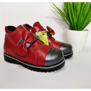 Ортопедические ботинки для девочек Арт: 7741red - последняя пара 27рр!