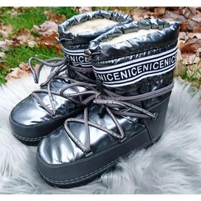 Зимние сапоги для девочек, луноходы 8338