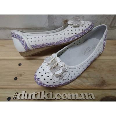 Туфли для девочек с перфорацией 9809В-19