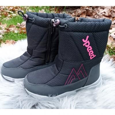 Зимние дутики для девочек, K2599