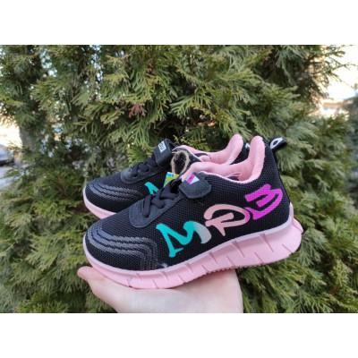 Кроссовки для девочек черно-розовые, 908 black-pink