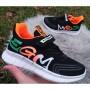 Кросівки текстильні чорно-помаранчові, 9030A black-orange