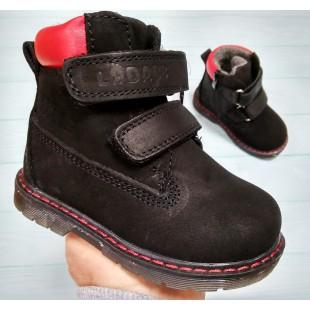 Ботинки из натурального нубука осень-зима Арт: 22103A black