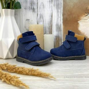 Ботинки из натурального нубука осень-зима Арт: 22103A blue