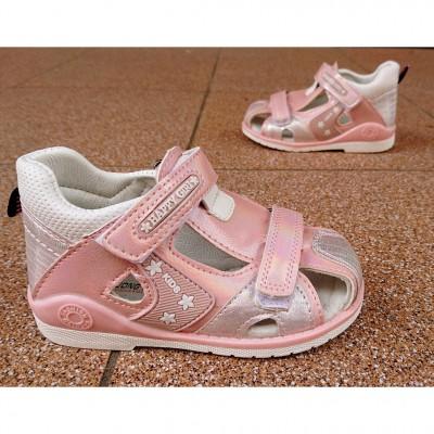 Босоножки сандалики с закрытым носком для девочек, A578-8 pink