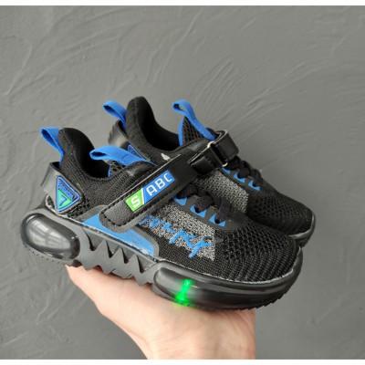 Кросівки для хлопчиків, мигалки 1-5395A LED
