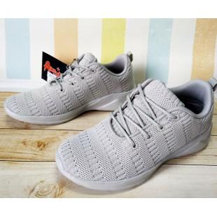 Серые дышащие кроссовки Арт: 91-70DA