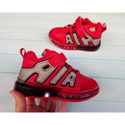 Хайтопы, ботинки утепленные кроссовки, 3-663GA red