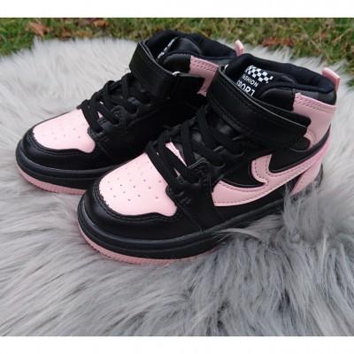 Хайтопы, высокие кроссовки для девочек, 626GA black-pink