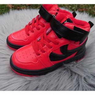 """Хайтопи високі кросівки """"Унісекс"""" Арт: 626GA red-black"""