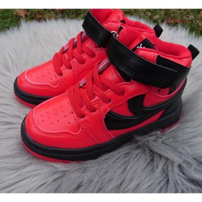 """Хайтопи, високі кросівки """"Унісекс"""", 626GA red-black"""