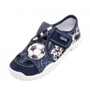 Текстильные сандалии-тапочки для мальчиков Adas blue