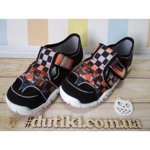 Текстильные тапочки-сандалии для мальчиков Adas car