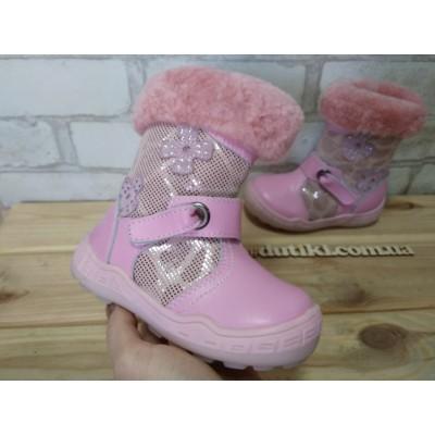 Зимние ботинки - сапожки  для девочек B-12