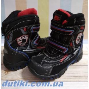 Зимние термо ботинки для мальчиков на флисовом подкладе АРТ: В206 black
