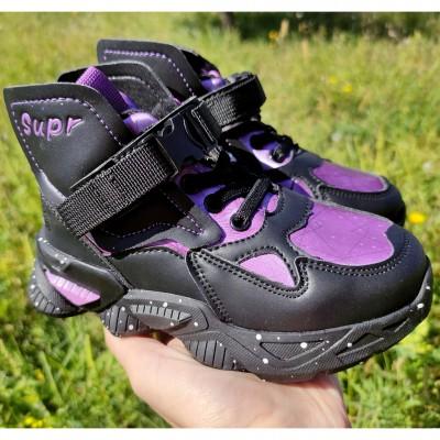 Утеплені хайтопи кросівки для дівчаток  7-5417B