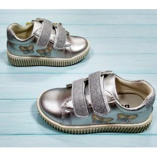 Кроссовки, кеды серебряные для девочек Арт: BK6-3003-последняя пара 28рр!