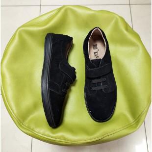 Туфлі кросівки підліткові з натуральної замші Арт: H5161 black - остання пара 38рр!