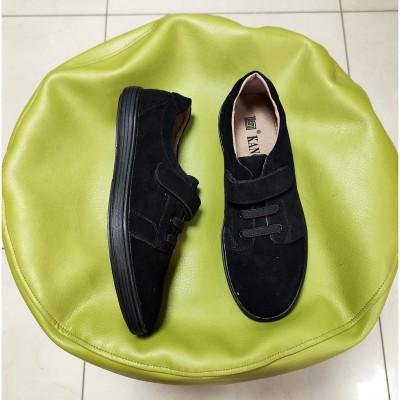 Кросівки, туфлі чорні з натуральної замші, H5161 black