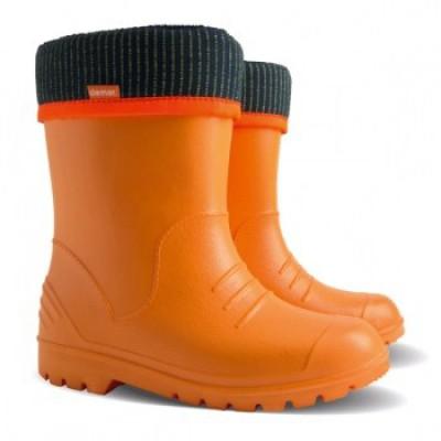 Резиновые сапоги из пены EVA с утеплителем Dino orange