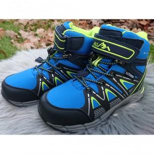 Зимние термо ботинки для мальчиков мембрана+штом+термостелька Арт:EVS186-232