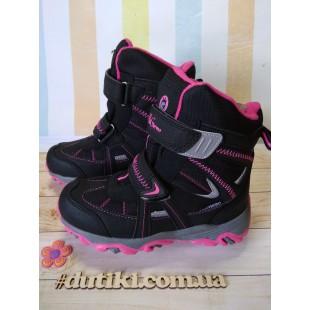 Зимние термо ботинки для девочек мембрана+ штом+термо стелька Арт: EVS196-104