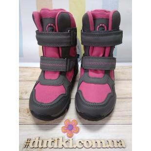 Зимние термо ботинки для девочек мембрана+ штом+термо стелька Арт: EVS196-108