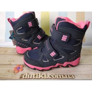 Зимние термо ботинки для девочек мембрана+ штом+термо стелька Арт: EVS196-113