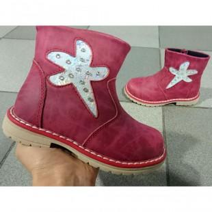 Ботинки для девочек из натуральной кожи Арт: U2555