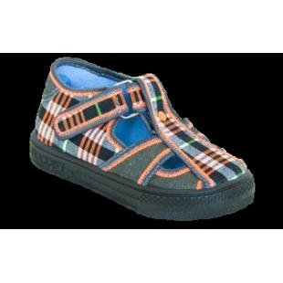 Franio 3042 - текстильные сандалии для мальчиков с кожаной стелькой