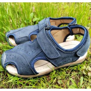Літні сандалі з натурального нубуку Арт: G9809 blue