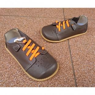 Кожаные туфли для мальчиков и девочек на супер гнущейся подошве Арт: Grey