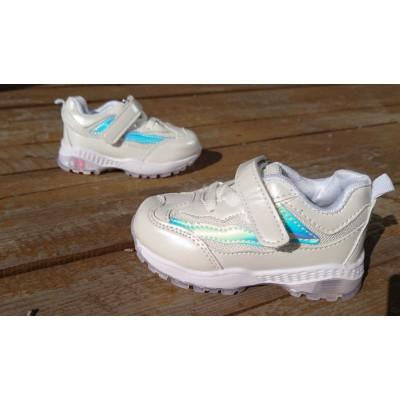 Кроссовки для девочек белые, H1061-1 white