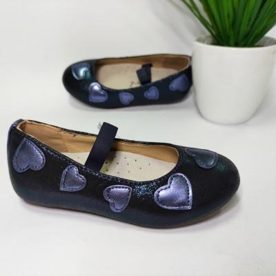 Туфли-балетки для девочек синие H99 navy