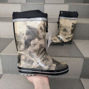 Гумові чоботи утеплені напіввовною Арт: LH-9100