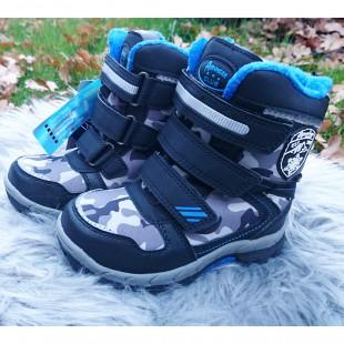 Зимние термо ботинки для мальчиков American Club Арт: 91-12LH black-royal