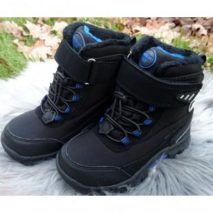 Зимние термо ботинки для мальчиков American Club Арт: 02-14LH black