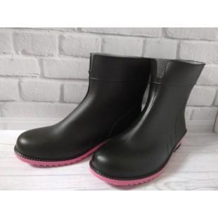 Женские резиновые полусапоги Арт.: Black-pink
